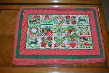 Six quilted Christmas placemats.