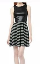 Ella Moss Faux Snakeskin Bodice Striped Dress Size Small S Excellent Preowned