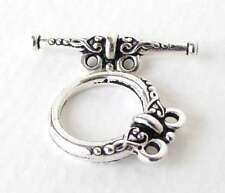 TierraCast Antiqued Silver Ox Heirloom Toggle Clasp 2 Strand Finding