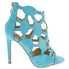 Cape Robbin Aqua Black Peep toe Pump Cut-out Diamond High Heels Party Women shoe