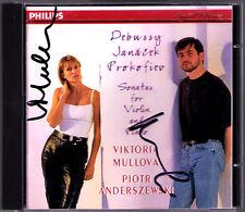Viktoria MULLOVA & Piotr ANDERSZEWSKI Signed JANACEK DEBUSSY PROKOFIEV Sonata CD