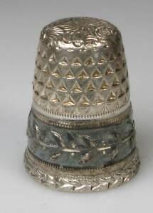 thimble sterling silver Settmacher triangle kurling