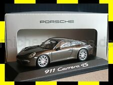 PORSCHE 911 991 Carrera 4S Coupe grau braun MINICHAMPS PMA 1:43 DEALER EDITION