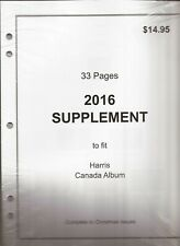 2016 Harris Canada Stamp Album Supplement - B&W - New - 3 ring & 2 post punched