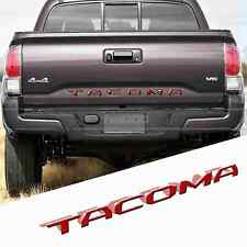 RED Tailgate Letters Insert 3D Plastic Sticker For TOYOTA TACOMA 2014-2018