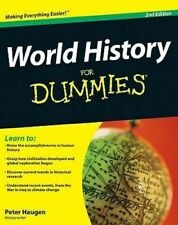 NEW World History For Dummies, 2nd Edition By Peter Haugen Paperback