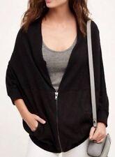 NWT Anthropologie Moth Austral Tunic Oversize Black Cardigan Shrug Sweater Large