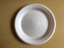 """White Polystyrene Plates 9"""" x 100 Disposable"""
