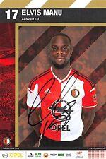 Elvis Manu - Feyenoord Rotterdam - 2014/2015 - Autogrammkarte - orig. sig.