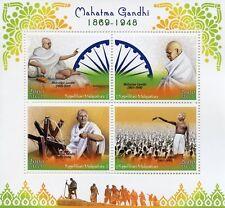 Madagascar 2018 MNH Mahatma Gandhi 4v M/S Famous Historical Figures Stamps