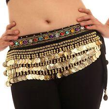 Belly Dancing Hip Scarf Skirt Wrap Velvet Chain Fringe Tribal Waist Belt Skirt