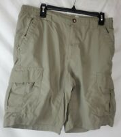 Columbia Men's Medium Gray Cargo Hiking Walking Shorts Titanium Omni Dry