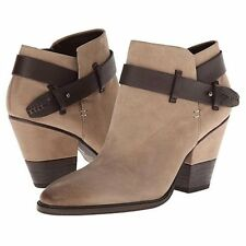 Dolce Vita Haelyn Taupe Nubuck Women's Shoes Zip Boots Size 7 M