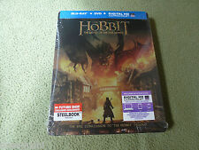 Free*Postage New The Hobbit Battle of Five Armies Blu Ray + DVD Steelbook Future