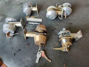 7 Medeco DeadboltS With Keys