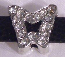 ♥ slider exploto módulo slide charm mariposa pedrería plata ♥ mlab 003
