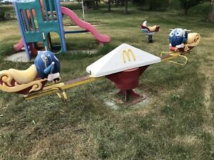 RARE Vintage McDonalds Playland Playground Fry Guy WORKING Teeter Totter 11'