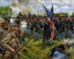 Mark Maritato Civil War Sergeant Ben Crippen Signed Art Print Gettysburg