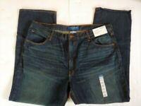 Arizona Men's 40x30 Relaxed Fit Straight Leg Denim Blue Jeans *NWT*