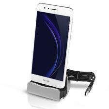 Base di ricarica trasferimento dati Docking station smartphone Micro USB argento