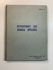 Vintage Medical Catalogue - Orthopaedic and Surgical Appliances 1958 Sydney