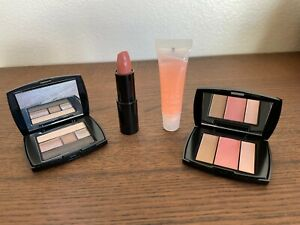 New Lancome Blush Subtil Color Design Eye Palette Lipstick Lip Gloss Travel Set
