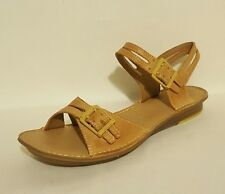 Clarks Active Air Robe Magic Tan Brown Genuine Leather Sandals Ladies Uk 6.5