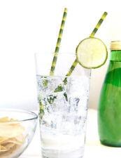25pcs Biodegradable Paper Drinking Straws Birthday Party Wedding Supplies Decor