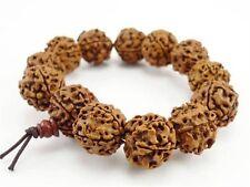 Large Tibetan 13 16mm Rudraksha Bodhi Seed Meditation Prayer Beads Mala Bracelet
