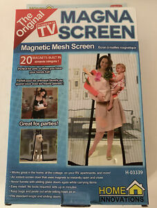 Magna Screen Magnetic Mesh Screen An Instant Screen Door Built with 20 Magnets
