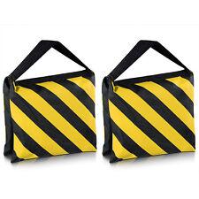 2X  Heavy Duty Sand Bag Photography Studio Video Light Stand Sandbag (YELLOW)