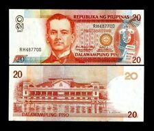 PHILIPPINES 20 PESOS P192 C 2007 ARROYO MALAKANYANG PALACE UNC MONEY BANK NOTE