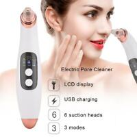 6 in 1 Electric Facial Skin Cleaner Pore Blackhead Cleaner Remover Vacuum Acne