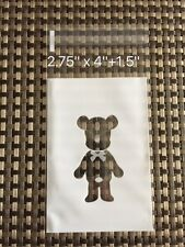 Clear Flat Plastic Self-adhesive Bag for Cookie Madeleine | Cute Bear | 100 pcs