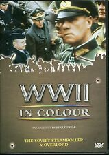 WWII IN COLOUR THE SOVIET STEAMROLLER & OVERLORD DVD NARRATED BY ROBERT POWELL