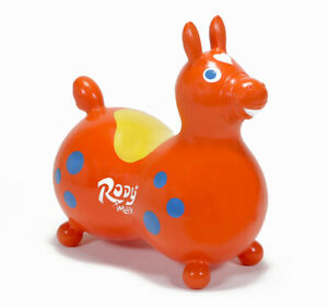 GYMNIC Rody Max Inflatable Hopping Horse Toy w/ Pump - Orange