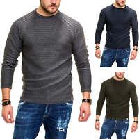 Jack & Jones Herren Strickpullover O-Neck Sweater Pullover mit Streifenmuster %