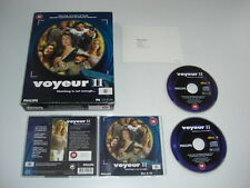 VOYEUR II 2 Pc Cd Rom 18 Adult Detective Mystery - Original BIG BOX
