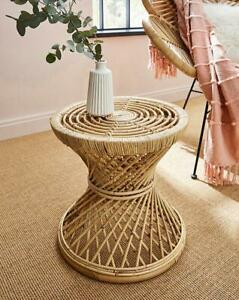 Home Living Furniture Rustic Natural Rattan Coffee Side Bedside Table Décor NEW