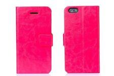 2x Pellicola + Custodia supporto agenda portafogli book per iPhone 6 4.7 Fucsia