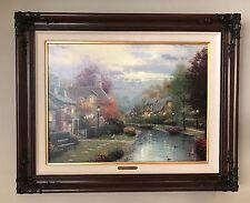 "Thomas Kinkade's ""LAMPLIGHT BROOK"" S/N #56/1650 Framed Canvas Lithograph"