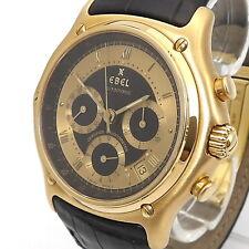 EBEL 1911 Le Modulor Unisex Uhr Automatik 750er/18 Karat Gelbgold Leder