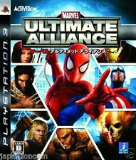 Used PS3 Marvel: Ultimate Alliance SONY PLAYSTATION 3 JAPAN JAPANESE IMPORT