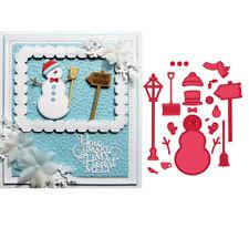 Snowman Metal Cutting Dies Stencil Handcraft Gift Card Scrapbooking Album DIY