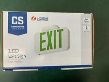 Lithonia Lighting Green Low Profile Led Emergency Exit Sign With Backup Battery