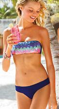 Victoria's Secret Paillietten Deep Blau Bandeau Bikini Sets S