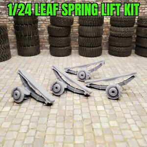 1/24 3D Printed Leaf Spring Lift Kit with Disc Brakes Attached