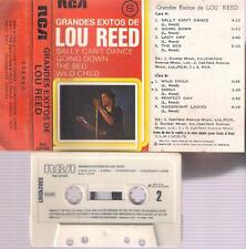 LOU REED Grandes exitos DIFFICULT SPANISH TITTLE CASSETTE 1978 RCA SPAIN