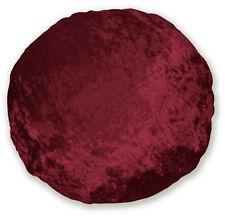 mv25n Dark Red Shimmer Diamond Crushed Velvet Style Round Shape Cushion Cover