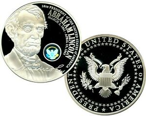 ABRAHAM LINCOLN OFFICIAL PRESIDENTIAL HOLOGRAM COMMEMORATIVE COIN PROOF  $99.95